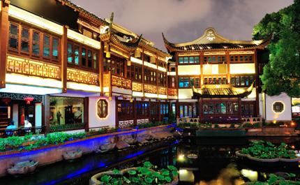 Ville-illuminee-Shanghai