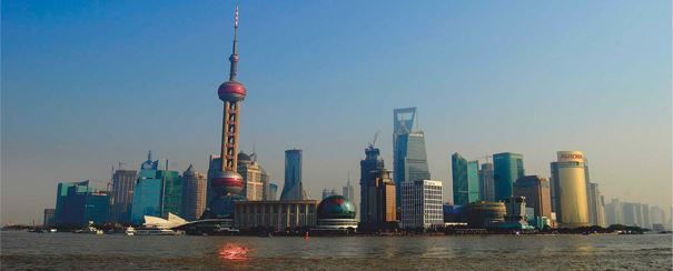 Vue panoramique de Shanghai