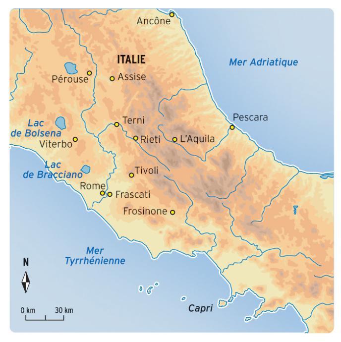 Carte Italie Assise.Marche Spirituelle A Assise Sur Les Pas De Saint Francois