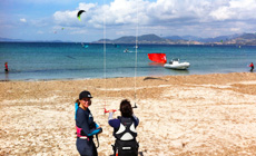 Séjour kitesurf INITIATION en France à l'Almanarre