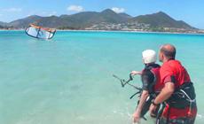 Séjour kitesurf INITIATION à Saint-Martin